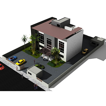 isolated house project design nalco malbo guinea render